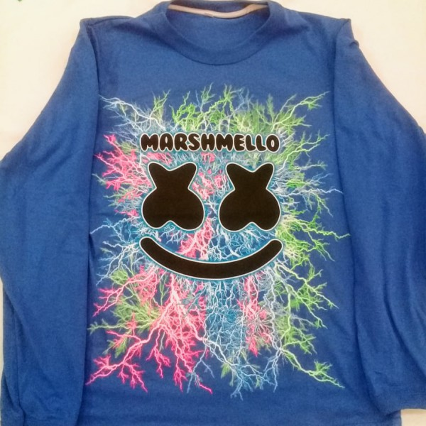 REMERA MASHMELLO  ADOLESCENTE MANGAS LARGAS