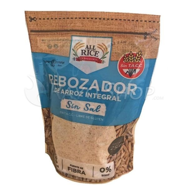 Pack X 10 Rebozador Sin Tacc De Arroz All Rice Sin Sal X 250grs