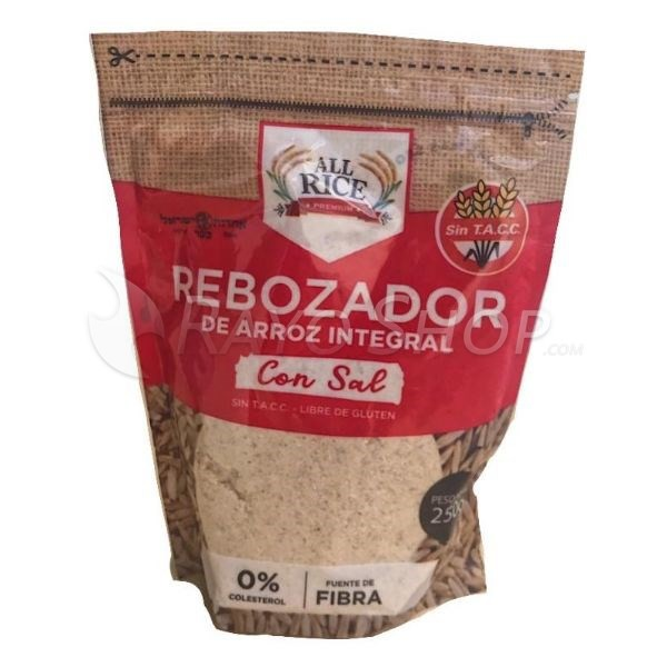 Pack X 10 Rebozador De Arroz All Rice Con Sal X 250grs