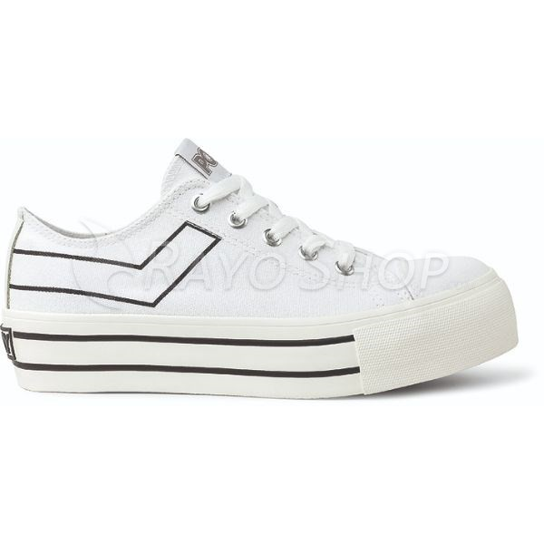 Zapatilla Pony con plataforma Clasic ox Canvas Blanco