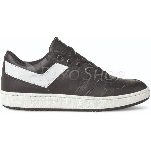 Zapatillas Pony City Wings ox Leather Negro/Blanco
