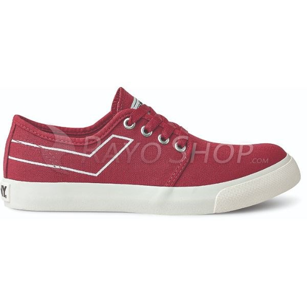 Zapatillas Pony West ox Canvas Rojo