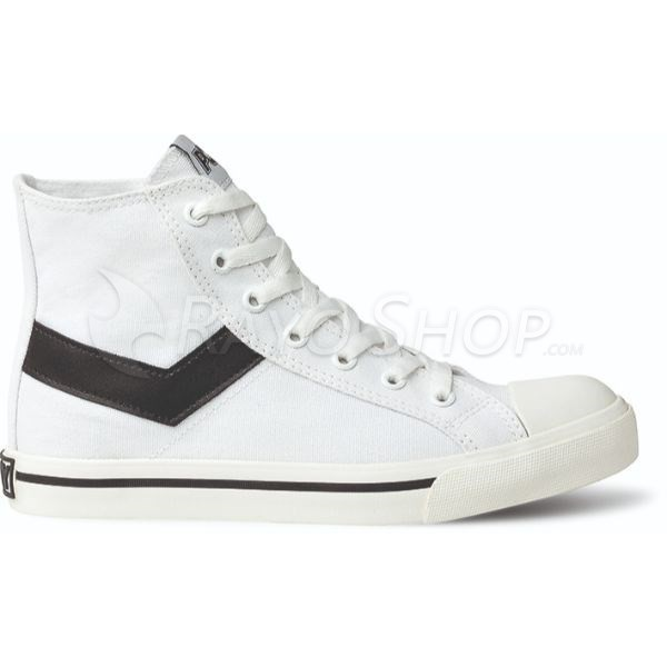 Zapatillas Pony Shotter ox Canvas Unisex Caña Alta Blanco/Negro