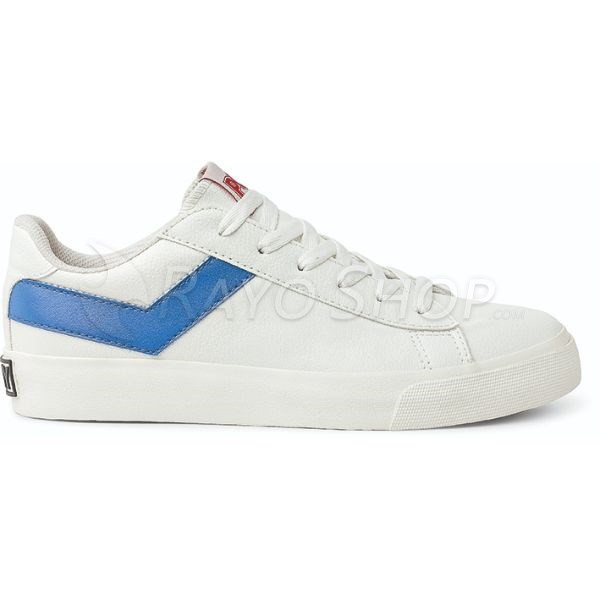 Zapatillas Pony Topstar ox New Pele Unisex Blanco/Azul
