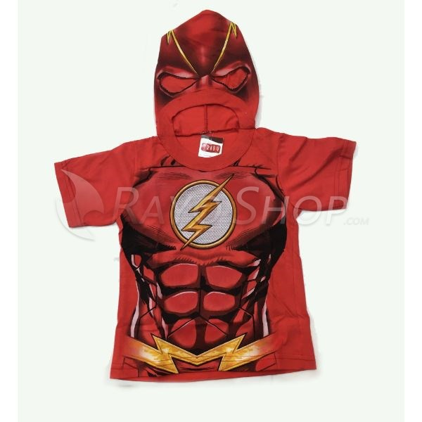 REMERA INFANTIL FLASH CON CAPUCHA